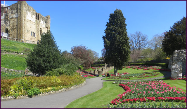 Guildford Castle grounds.
