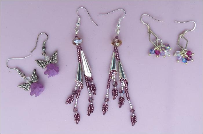 Mrs Mart's bead-work - Earrings