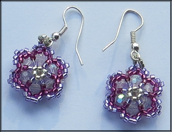 Mrs Mart's bead-work - Earrings
